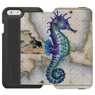 Seahorse Map Gibraltar Incipio Watson™ iPhone 6 Wallet Case