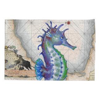 Seahorse Map Gibraltar Pillowcase