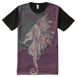 seahorse native night All-Over print T-Shirt