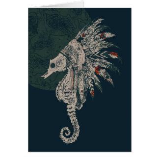 seahorse native night card