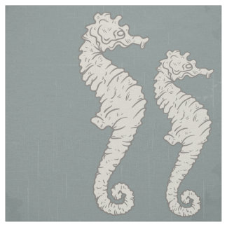 Seahorse Nautical Pattern Fabric