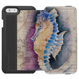 Seahorse old map incipio watson™ iPhone 6 wallet case