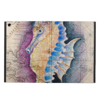 Seahorse old map iPad air case
