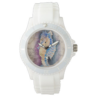 Seahorse old map watch