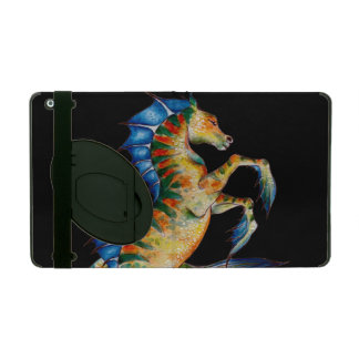 seahorse on black iPad case