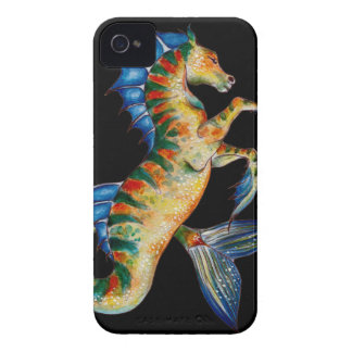 seahorse on black iPhone 4 cover