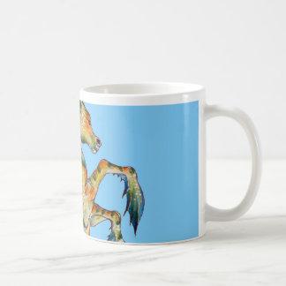 Seahorse On Blue Coffee Mug