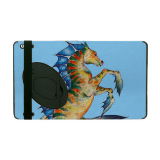 Seahorse On Blue iPad Cover
