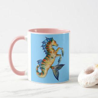 Seahorse On Blue Mug