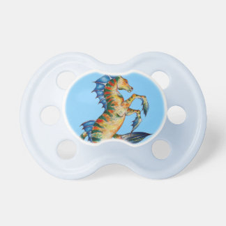 Seahorse On Blue Pacifiers