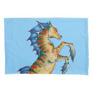 Seahorse On Blue Pillowcase