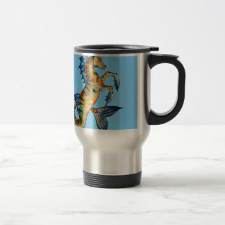 Seahorse On Blue Travel Mug