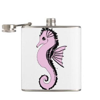 seahorse pink flask
