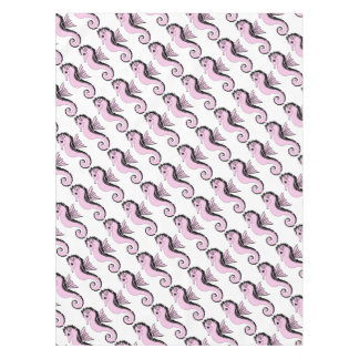seahorse pink tablecloth