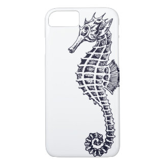 Seahorse Portrait on White iPhone 8/7 Case