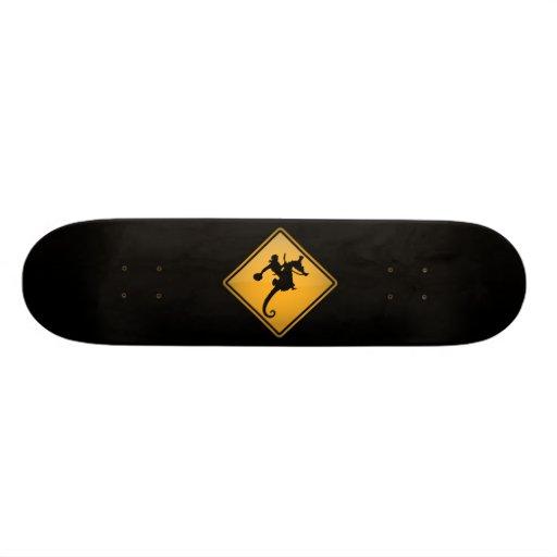 Seahorse Rodeo Warning Sign Skate Board Decks