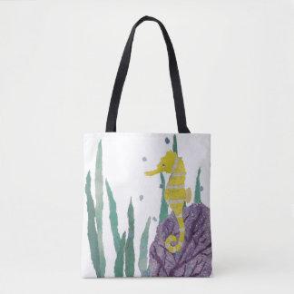 Seahorse, Sea Fan, Seaweeds, Ocean, Sea Creature Tote Bag