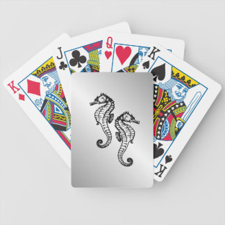 Seahorse Silver Bicycle Playing Cards