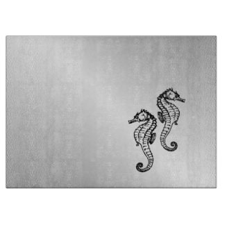 Seahorse Silver Cutting Board