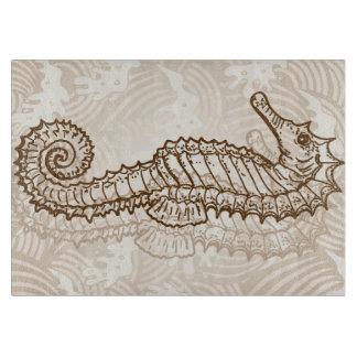 Seahorse Sketch Cutting Board