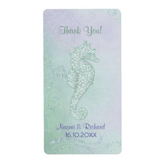 Seahorse Sparkle  -  Thank You Wine Label
