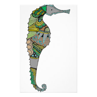 Seahorse Stationery Design