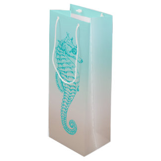 Seahorse Tropical Design Wine Bag