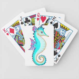 Seahorse Turquoise Bicycle Playing Cards