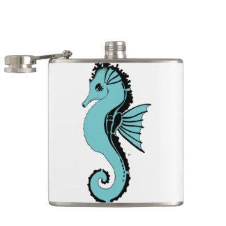 seahorse turquoise flasks