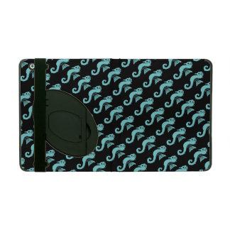 seahorse turquoise iPad folio case