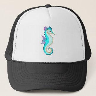 Seahorse Turquoise Trucker Hat