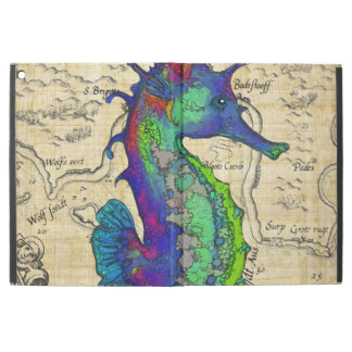 "Seahorse Vintage Comic Map iPad Pro 12.9"" Case"