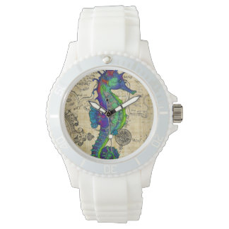 Seahorse Vintage Comic Map Watch
