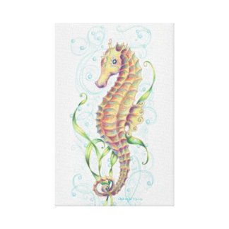 Seahorse Wall Hanging Wrapped Canvas