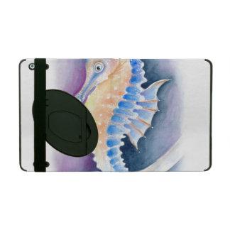 Seahorse Watercolor Art iPad Folio Case