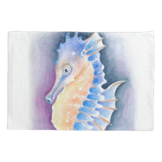 Seahorse Watercolor Art Pillowcase