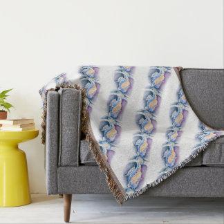 Seahorse Watercolor Art Throw Blanket