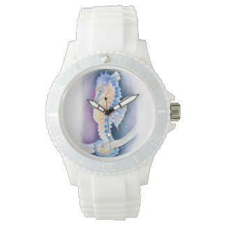 Seahorse Watercolor Art Watch