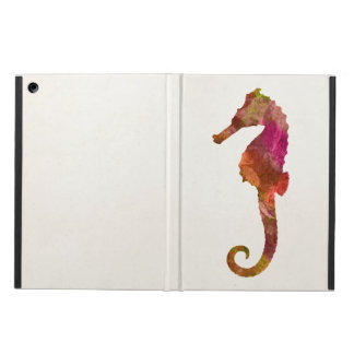 Seahorse Watercolor Silhouette Sea Horse Pink iPad Air Cover