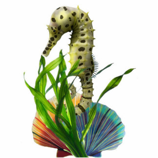 Seahorse with Seaweed Sculpture Cut Outs