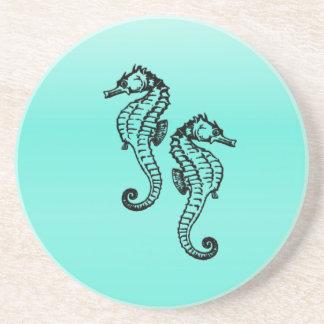 Seahorses Aqua Coaster