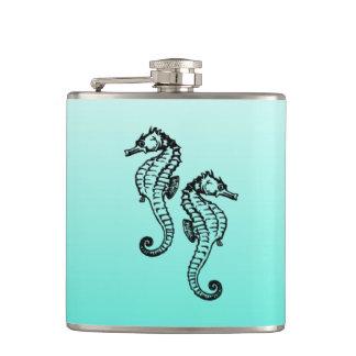 Seahorses Aqua Flask
