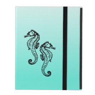 Seahorses Aqua iPad Cover