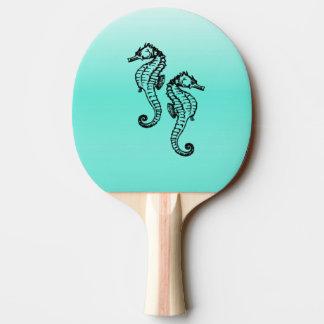 Seahorses Aqua Ping Pong Paddle