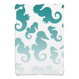 Seahorses aqua/teal pattern custom background cover for the iPad mini