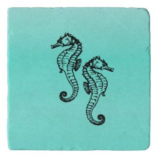 Seahorses Aqua Trivet