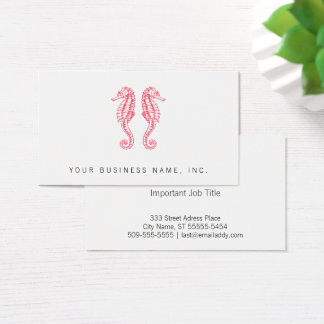 Seahorses Business Card
