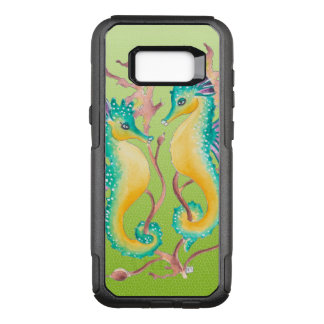 seahorses lime stained glass OtterBox commuter samsung galaxy s8+ case
