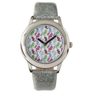 Seahorses Pattern Nautical Beach Theme Gifts Wristwatch
