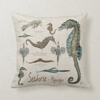 Seahorses, Sea dragons, and Sea pipes Cushion